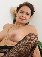 Older Housewife Sam In Crotchless Bodystocking