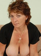 Mature Wife Misti Flashes Her Hairy Pussy Lips