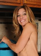 Mature Wife Monique Spreads Pussy As She Cooks