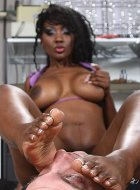 breasted ebony femdom footdom facesitting pleasure
