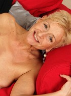 Naked Granny Scarlett J Spreads Older Pussy Lips