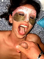 Sweet wives from around suck cocks and get facials