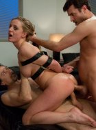 Cheating wife punished in double penetration sex