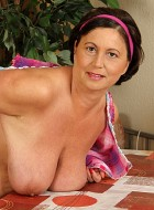 Older Housewife Kata Exposes Her Big Natural Tits